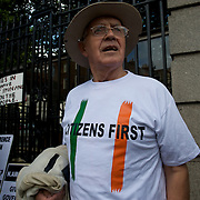 Anti-governament demonstration in Dublin, 29/09/2010.