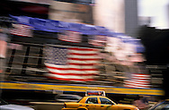 New York. Times square, covered with american symbols and Flags  in Manhattan  New york  Usa   / Times Square, couvert de drapeaux,   Manhattan  New york  USA