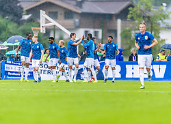 13.07.2019, Kitzbühel, AUT, Testspiel, Huddersfield Town vs Hamburger SV, im Bild Torjubel Huddersfield Town zum 0:1 durch Adama Diakhaby (Huddersfield Town) // during a test match for the upcoming Season between Huddersfield Town and Hamburger SV in Kitzbühel, Austria on 2019/07/13. EXPA Pictures © 2019, PhotoCredit: EXPA/ Stefan Adelsberger