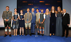 "13.07.2019, BMW Welt, Muenchen, GER, Bayerischer Sportpreis Verleihung, im Bild Die Preisträger des ""Bayerischen Sportpreises 2019"", zusammen mit Joachim Herrmann // during the Bavarian Sports Award at the BMW Welt in Muenchen, Germany on 2019/07/13. EXPA Pictures © 2019, PhotoCredit: EXPA/ SM<br /> <br /> *****ATTENTION - OUT of GER*****"