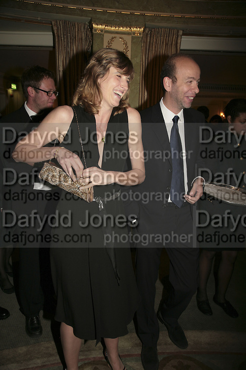 Eric Fellner and Arabella Pollen/Macmillan, Cocktail party before the  27th Annual London Film Critics' Circle Awards. In aid of the NSPCC. Dorchester. 8 February 2007.  -DO NOT ARCHIVE-© Copyright Photograph by Dafydd Jones. 248 Clapham Rd. London SW9 0PZ. Tel 0207 820 0771. www.dafjones.com.
