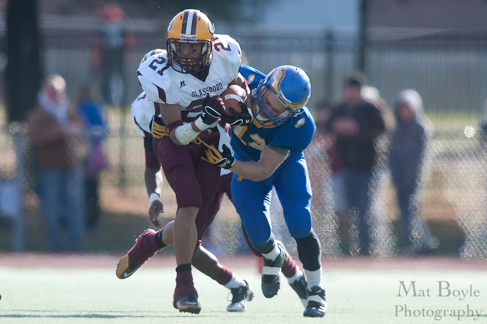 Glassboro High School's Ronnie James (21)..NJSIAA South Jersey Group 1 Title match between Pennsville High School and Glassboro High School held at Coach Richard Wacker Stadium on the campus of Rowan University in Glassboro, NJ on Saturday, December 3, 2011. (photo: Mat Boyle)