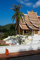 Laos, Province de Luang Prabang, ville de Luang Prabang, Patrimoine mondial de l'UNESCO depuis 1995, musee du Palais Royal (Ho Kham), le temple dore Wat Ho Pha Bang // Laos, Province of Luang Prabang, city of Luang Prabang, World heritage of UNESCO since 1995, Royal Palace National Museum, Wat Ho Pha Bang, golden temple