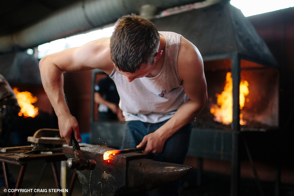 Royal Highland Show 2013. FARRIERS AT THE FORGE