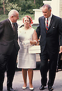 President Lyndon Johnson with Zara Holt and Harold Holt, Prime Minister of Australia at  the White House in July 1967<br /> Photo by Dennis Brack