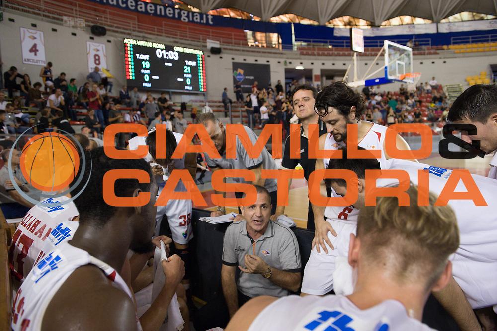 DESCRIZIONE : Roma LNP Serie A2 Ovest 2015-16 Acea Roma Orsi Tortona<br /> GIOCATORE : Guido Saibene<br /> CATEGORIA : allenatore coach time out<br /> SQUADRA : Acea Roma<br /> EVENTO : Campionato Serie A2 Ovest 2015-2016<br /> GARA : Acea Roma Orsi Tortona<br /> DATA : 04/10/2015<br /> SPORT : Pallacanestro <br /> AUTORE : Agenzia Ciamillo-Castoria/G.Masi<br /> Galleria : Serie A2 Ovest 2015-2016<br /> Fotonotizia : Roma Serie A2 Ovest 2015-16 Acea Roma Orsi Tortona
