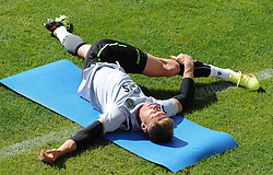 July 12, 2018 - Na - Nyon, 12/07/2018 - Sporting Clube de Portugal trained this morning during their pre-season training session in Switzerland at the Colovray Sports Center in Nyon. Salin  (Credit Image: © Atlantico Press via ZUMA Wire)