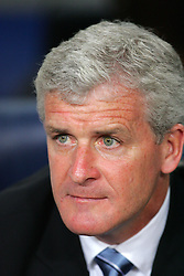 Manchester City manager Mark Hughes before the Joan Gamper Trophy match between Barcelona and Manchester City at the Camp Nou Stadium on August 19, 2009 in Barcelona, Spain. Manchester City won the match 1-0.