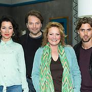 NLD/Zaandam/20140408 - Perspresentatie SBS serie Rechercheur Ria, vlnr, Birgit Schuurman, Victor Löw, Ellen Pieters, Manuel Broekman
