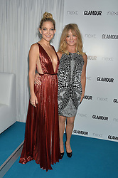 Left to right, KATE HUDSON and GOLDIE HAWN at the Glamour Women of The Year Awards held in Berkeley Square, London on 2nd June 2015.