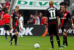 17.09.2011,  BayArena, Leverkusen, GER, 1.FBL, Bayer 04 Leverkusen vs 1. FC Koeln, im Bild.Lars Bender (Leverkusen #8), Stefan Kiessling (Leverkusen #11) und Renato Augsto (Leverkusen #10) (R) entaeuscht / entäuscht / traurig nach dem 0:3..// during the 1.FBL, Bayer Leverkusen vs 1. FC Köln on 2011/09/17, BayArena, Leverkusen, Germany. EXPA Pictures © 2011, PhotoCredit: EXPA/ nph/  Mueller *** Local Caption ***       ****** out of GER / CRO  / BEL ******