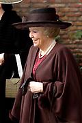 Hare Koninklijke Hoogheid Prinses Alexia, de jongste dochter van Zijne Koninklijke Hoogheid de Prins van Oranje en Hare Koninklijke Hoogheid Prinses Máxima, is zaterdag 19 november 2005 gedoopt in de Dorpskerk in Wassenaar. <br /> <br /> Baptism of Princess Alexia, the youngest daughter of Prince Willem-Alexander and Princess Máxima. Princess Alexia (born June 26, 2005) has been baptized in the church in Wassenaar. The ceremony was attended by The Dutch Royal Family and the parents of Princess Máxima.  <br /> <br /> Op de foto / On the photo:<br /> <br /> <br /> Koningin Beatrix, De heer J.H. Zorreguieta en mevrouw M. del Carmen Cerruti de Zorreguieta .<br /> <br /> Queen Beatrix, J.H. Zorreguieta and Ms M. del Carmen Cerruti the Zorreguieta.
