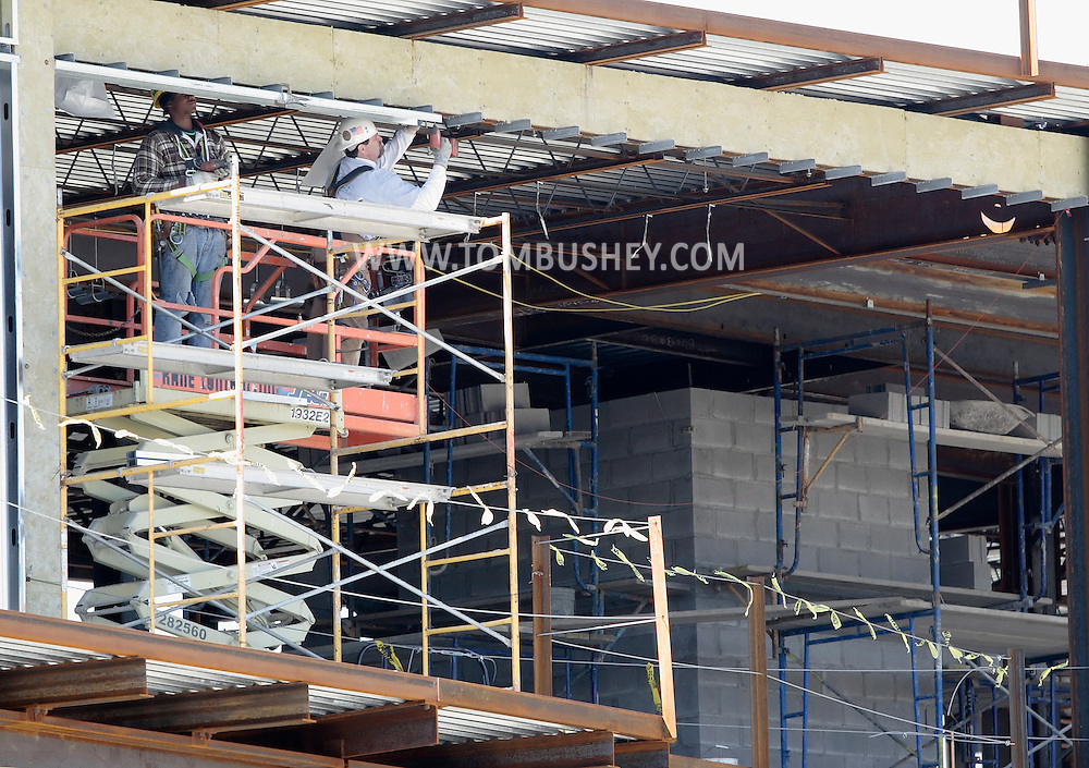 Newburgh, New York - Construction continues on Kaplan Hall at Orange County Community College's Newburgh campus on March 17, 2010. Kaplan Hall will be a state-of-the-art, 87,000 sq. ft. environmentally friendly building.