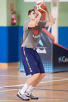 Juancho Hernangomez during the Spain training session before EuroBasket 2017 in Madrid. August 02, 2017. (ALTERPHOTOS/Borja B.Hojas)
