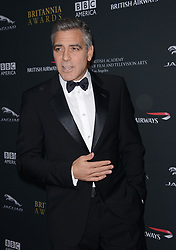 Hollywood star George Clooney was treated in hospital on Tuesday for minor injuries after a scooter accident in Sardinia, Italy on July 10, 2018 ------------ George Clooney attends the BAFTA LA Britannia Awards at The Beverly Hilton Hotel in Los Angeles, CA, USA, on November 9, 2013Photo by Lionel Hahn/ABACAPRESS.COM