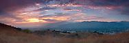 San Gabriel Valley Sunset Panoramic, Glendora, California
