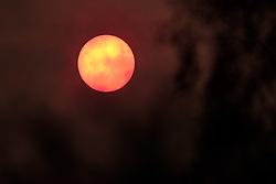 Hazy cloud around a very watery sun in South Lanarkshire.<br /> <br /> (c) Andrew Wilson | Edinburgh Elite media