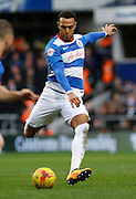 Queens Park Rangers midfielder and top goal scorer Matt Phillips shoots during the Sky Bet Championship match between Queens Park Rangers and Ipswich Town at the Loftus Road Stadium, London, England on 6 February 2016. Photo by Andy Walter.