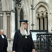 Judge Ouseley leaving the High Court of Justice