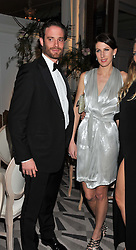 COUNT RICCARDO LANZA and SUSANNA WARREN at a dinner and dance hosted by Leon Max for the charity Too Many Women in support of Breakthrough Breast Cancer held at Claridges, Brook Street, London on 1st December 2011.