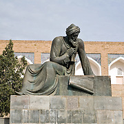 Statue of Al-Khorezmi, Khiva, the mathematician from the Khorezm empire who gave his name to the word we now know as algorithm