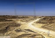 Sandpiste im Rocky Desert, Rub al-Khali, Oman