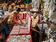 17 JULY 2016 - UBUD, BALI, INDONESIA: Vendors in the tourist market in Ubud, Bali.      PHOTO BY JACK KURTZ