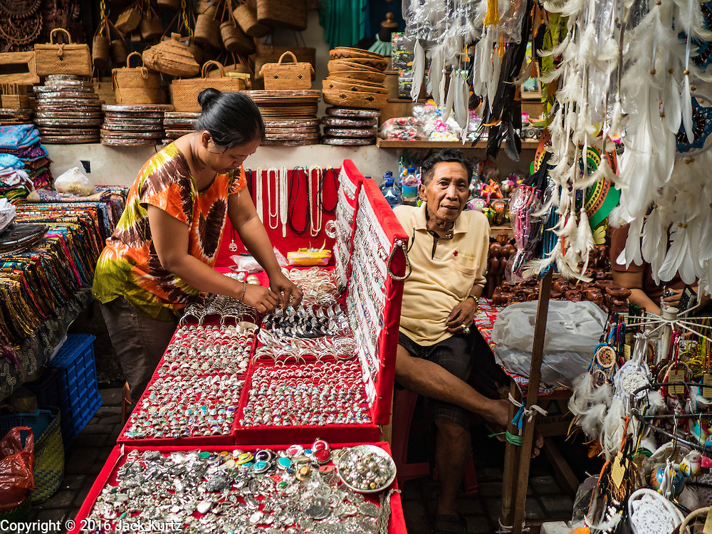 17 JULY 2016 - UBUD, BALI, INDONESIA: Vendors in the tourist market in Ubud, Bali.      PHOTO BY JACK KURTZ