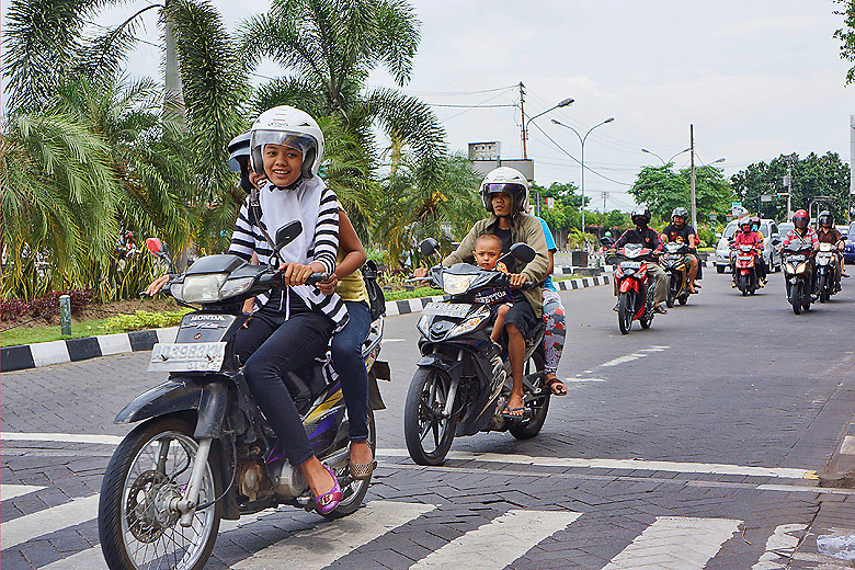 Scooter traffic
