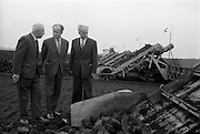 23/09/1963<br /> 09/23/1963<br /> 23 September 1963<br /> Minister sees advances in peat productivity by Bord na Mona at Timahoe, Co. Kildare. Picture shows Mr Dermot C. Lawlor, (left) Managing Director, Bord na Mona showing the Minister for Transport and Power, Mr Erskine Childers an automatic sod collector at Timahoe turf works, during the minister's end of season visit to Bord na Mona installations. On right is the chairman of Bord na Mona, Mr Aodhaghain Ó Raghallaigh.