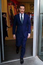 © Licensed to London News Pictures. 15/03/2015. LONDON, UK. Chancellor of the Exchequer, George Osborne leaving BBC Broadcasting House in London after The Andrew Marr show on Sunday, 15 March 2015. Photo credit : Tolga Akmen/LNP
