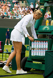 LONDON, ENGLAND - Tuesday, June 24, 2008: Maria Sharapova during her first round match on day two of the Wimbledon Lawn Tennis Championships at the All England Lawn Tennis and Croquet Club. (Photo by David Rawcliffe/Propaganda)