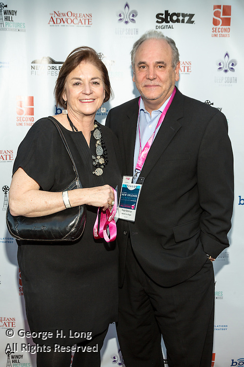 Susan and Ralph Brennan on the red carpet during opening night of the 25th Anniversary New Orleans Film Festival; Opening night film is 'Black and White' directed by Mike Binder