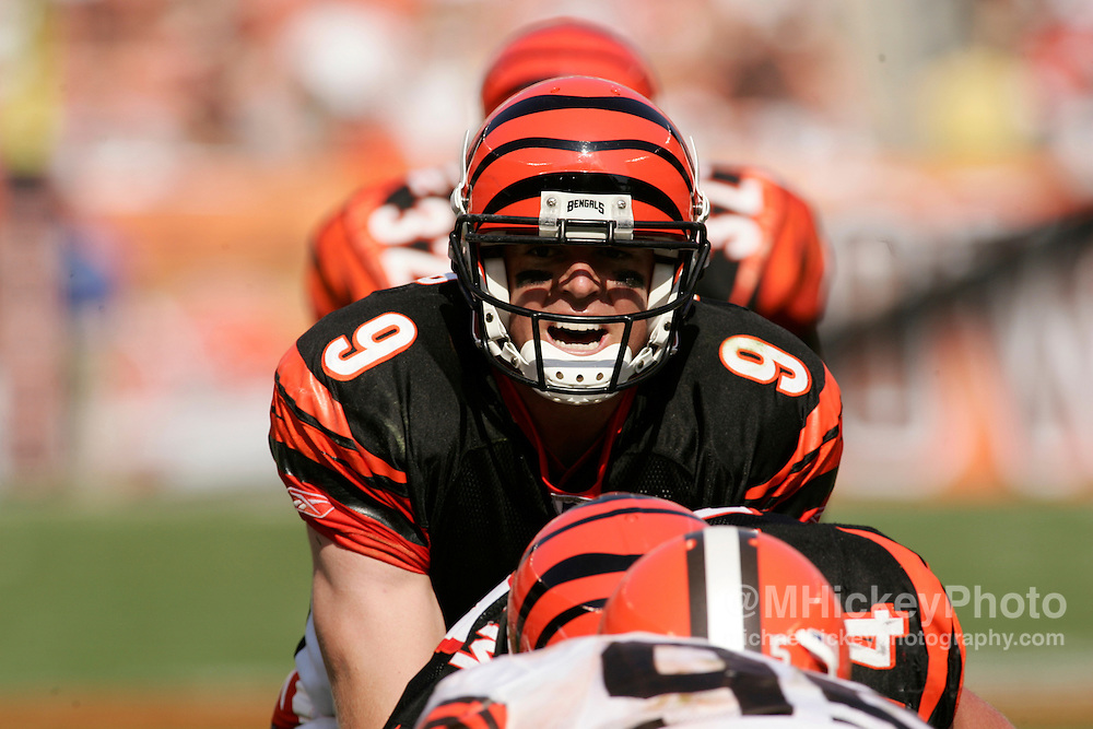 Cincinnati quarterback Carson Palmer during action against Cleveland Sept 11, 2005. The Bengals defeated the Browns 27-13.