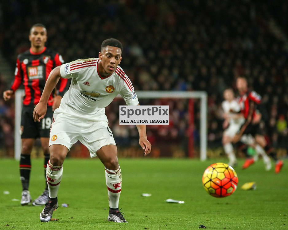 Anthony Martial  During Bournemouth vs Manchester United on Saturday the 12th December 2015.