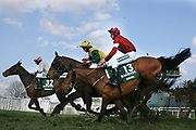 National Winner Tiger Roll and Davy Russell (13) fly over Canal Turn in The Randox Health Grand National on Grand National Day at at Aintree, Liverpool, United Kingdom on 14 April 2018. Picture by Craig Galloway.