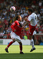 Photo: Rich Eaton. <br /> <br /> Nottingham Forest v AFC Bournemouth. Coca Cola Championship. 11/08/2007.  Bournemouth's Paul Telfer (r) fouls Forest's James Perch