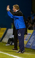 Photo: Alan Crowhurst.<br />Gillingham v Swindon Town. Coca Cola League 1. 14/01/2006. <br />Gills' coach Ronnie Jepson gives the orders.