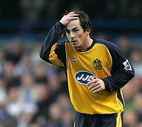 Photo: Lee Earle.<br /> Chelsea v Wigan Athletic. The Barclays Premiership.<br /> 10/12/2005. Wigan's Leighton Baines shows his frustration.
