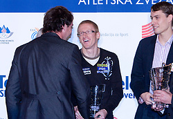 Primoz Kozmus, Matic Osovnikar and Rozle Prezelj at Best Slovenian athlete of the year ceremony, on November 15, 2008 in Hotel Lev, Ljubljana, Slovenia. (Photo by Vid Ponikvar / Sportida)