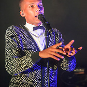 "Stromae performs at Echostage in Washington, D.C. His 2009 single ""Alors on danse"", reached number one in several European countries."
