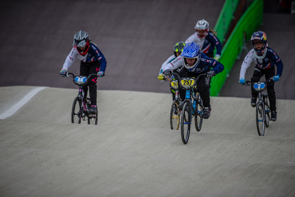 12 Boys #257 (DAVEY Ben) GBR during practice at the 2018 UCI BMX World Championships in Baku, Azerbaijan.