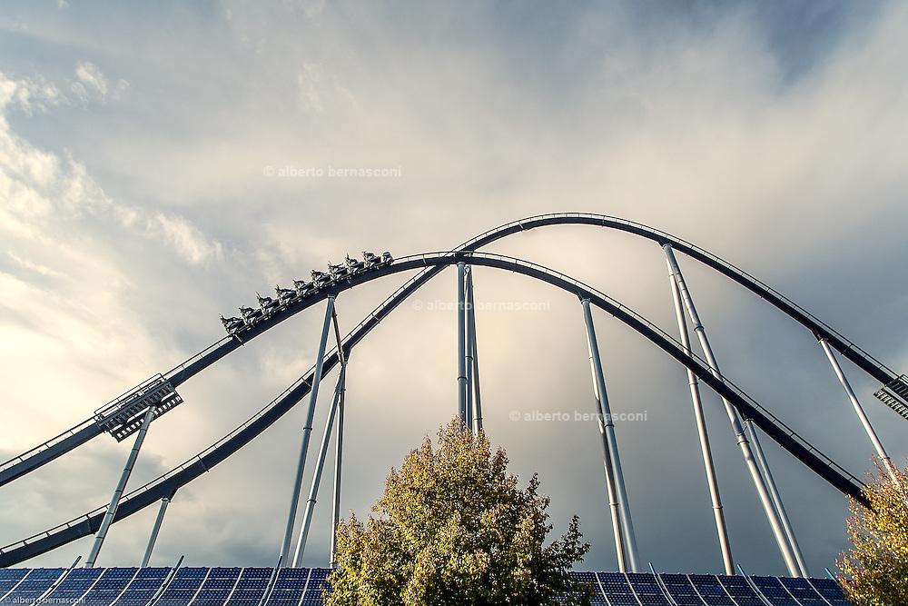 Germany, Freiburg ,il centro divertimenti  Europa Park a 20 mn da Friburgo utilizza pannelli solari <br /> <br /> Germany, Europa Park, 20 mn to Freiburg is partially powered by solar energy
