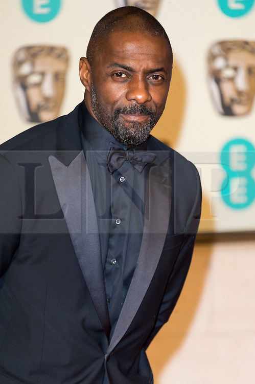 © Licensed to London News Pictures. 14/02/2016. London, UK.   IDRIS ELBA arrives on the carpet for the EE British Academy Film Awards 2016 after party held at Grosvenor House . London, UK. Photo credit: Ray Tang/LNP Photo credit: Ray Tang/LNP