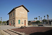 Recently restored Ottoman railway station at Tzemach (Samakh) on the southern shores of the Sea of Galilee, Israel (Inaugurated in 1905)