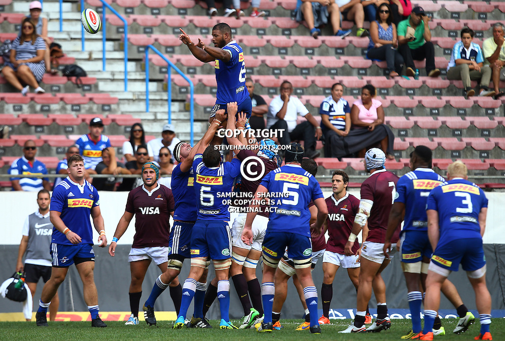 CAPE TOWN, SOUTH AFRICA - FEBRUARY 13: Nizaam Carr (captain) of the DHL Stormers during the Super Rugby Pre Season match between DHL Stormers and Jaguares at DHL Newlands Stadium on February 13, 2016 in Cape Town, South Africa. (Photo by Steve Haag/Gallo Images)
