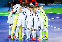 Team France during futsal match between Spain and France at Day 2 of UEFA Futsal EURO 2018, on January 31, 2018 in Arena Stozice, Ljubljana, Slovenia. Photo by Ziga Zupan / Sportida