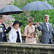 Koning en koningin bezoeken Noordrijn-Westfalen.<br /> Nederlands – Duitse bedrijvenbijeenkomst  bij SchlossMoyland<br /> <br /> King and Queen visit North Rhine-Westphalia.<br /> Dutch - German companies meeting SchlossMoyland<br /> <br /> Op de foto / On the photo:  <br /> <br />  Koningin Maxima  / Queen Maxima