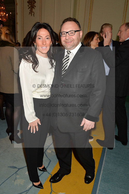 JONATHAN & KATRINA SHALIT at a party to celebrate the publication of The Romanovs 1613-1918 by Simon Sebag-Montefiore held at The Mandarin Oriental, 66 Knightsbridge, London on 2nd February 2016.