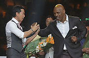 "SHANGHAI, CHINA - MAY 06: (CHINA OUT) <br /> <br /> Ip Man 3 Shanghai Press Conference<br /> <br /> American retired professional boxer Mike Tyson attends press conference of ""Ip Man 3"" directed by director Wilson Yip Wai Shun on May 6, 2015 in Shanghai, China.<br /> ©Exclusivepix Media"